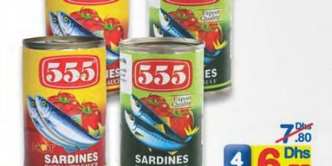 555 sardines assrtd 155g