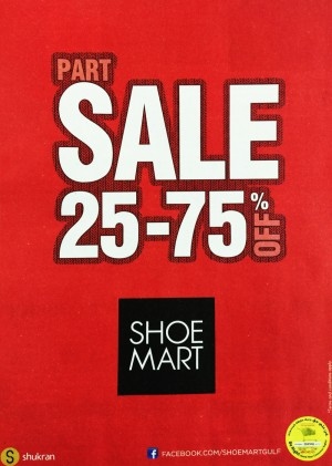 Shoe Mart Part Sale