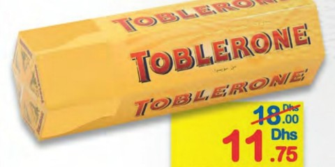 Toblerone milk chocolate 50g 6pcs