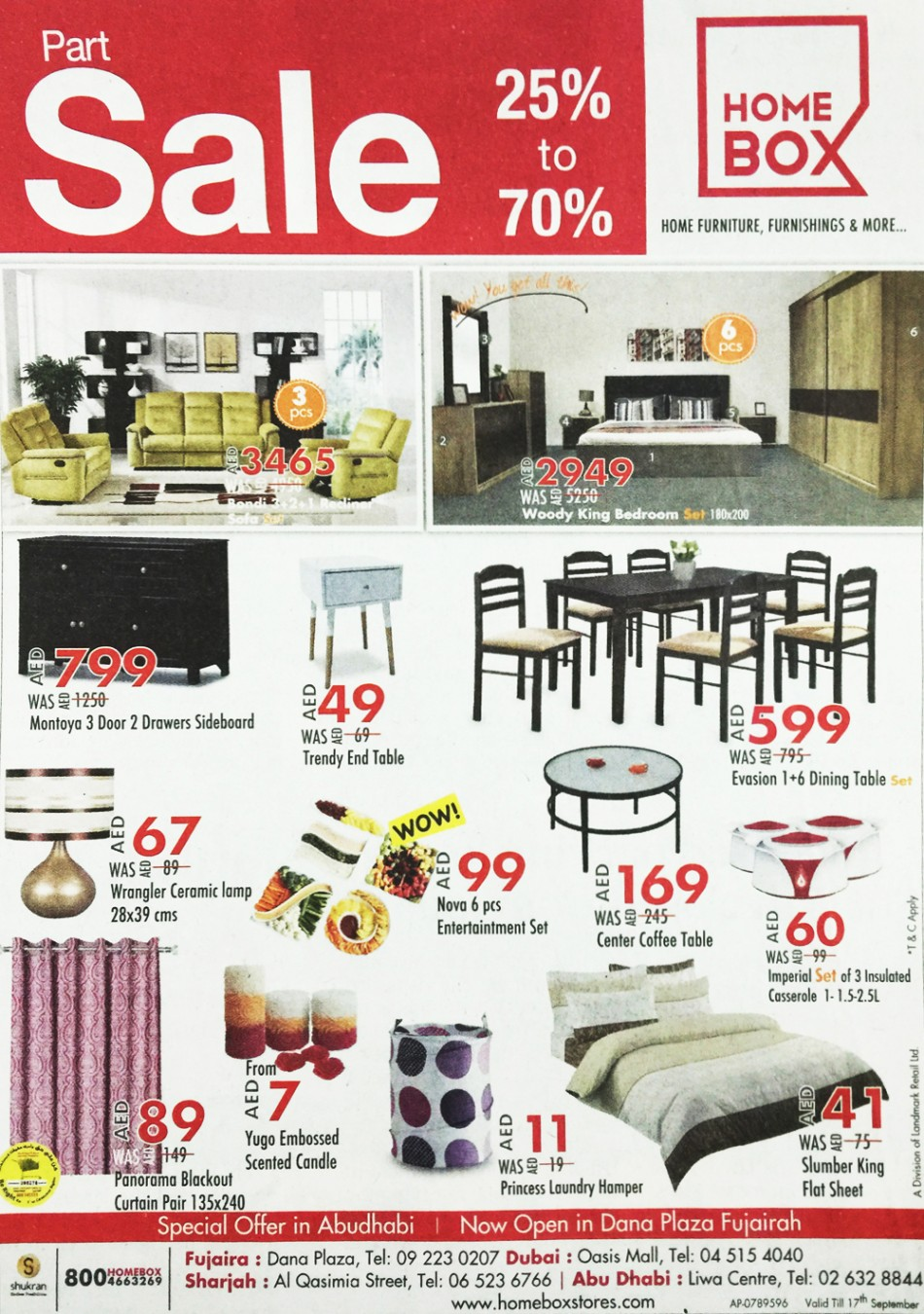 home box part sale 25 up to 70 discount sales special offers and deals. Black Bedroom Furniture Sets. Home Design Ideas