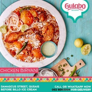 Best Biriyani from Gulabo at 15 AED