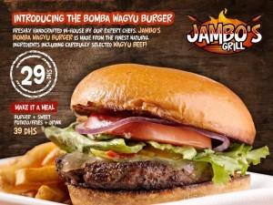 Bomba Wagyu Burger at Jambos Grill