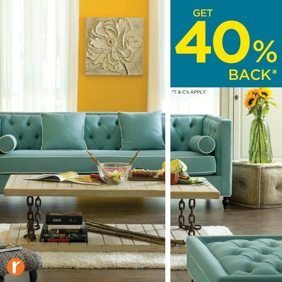 Home R Us 40% BACK* Promo