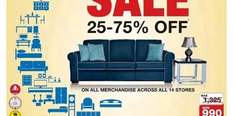 Royal Furniture 25%-75% OFF SALE