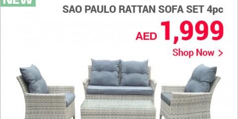 New Sao Paulo Rattan Sofa Set