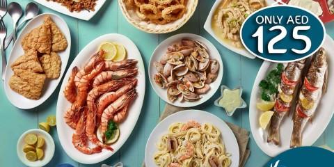 All You Can Eat Crab for AED 125 Offer at Halket El Samak UAE