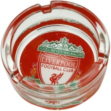 Liverpool FC Glass Ashtray Liverpool Football Club Glass Ashtray
