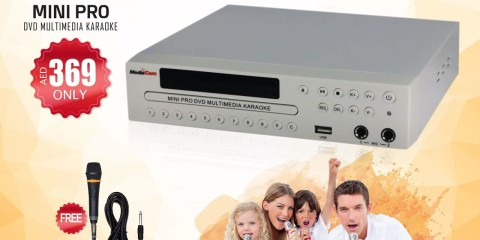 New Portable DVD Karaoke Mci Mini Pro For only AED369