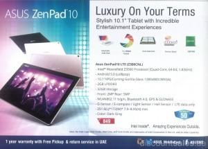 ASUS ZenPad 10 GITEX Offer