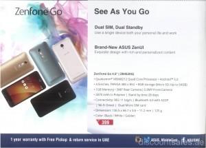 Zenfone Go Exclusive Offer