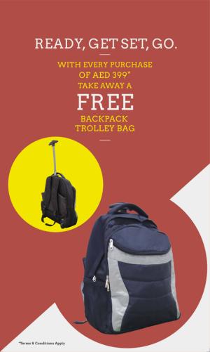 Bossini FREE* Backpack Trolley Bag