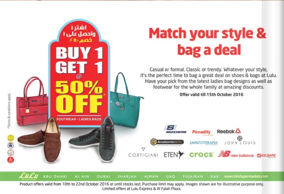 Buy 1 Get 1 50% Off Footwear & Ladies Bags