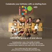 Spice Island Amazing Birthday Package
