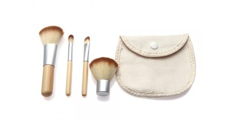 Four-Pc Bamboo Make-Up Brush Set