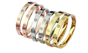 Gold-Plated Love Bangle