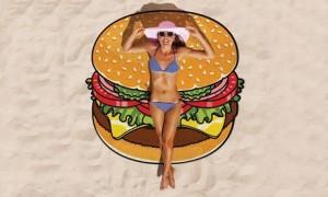 Burger-Shaped Beach Blanket