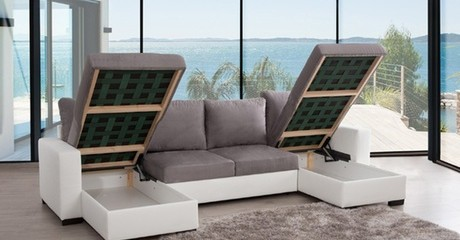 Five-Seater Double U Corner Sofa