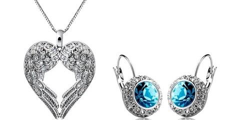 Angel Wings Necklace + Earrings