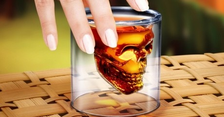 Doomed Skull-Filled Shot Glasses