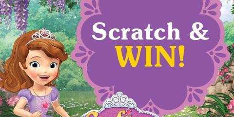 Sofia The First Scratch & Win Promo