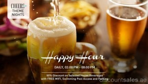 Happy Hour 50% Discount Offer