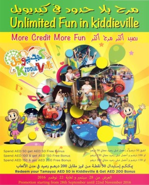 Kiddieville Unlimited Fun Offers