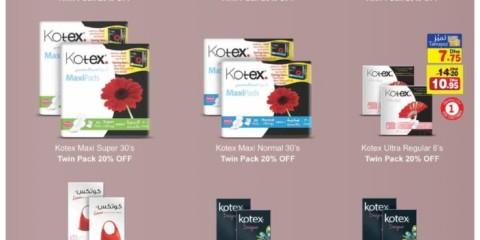 Kotex Pads 20% Off