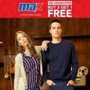 Max Buy 3 Get 1 FREE Mid-Season Offer