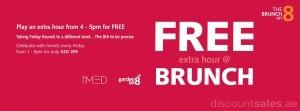 Brunch Free Extra Hour Promo