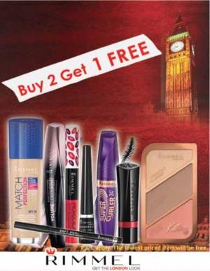 Rimmel Cosmetics Buy 2 Get 1 FREE