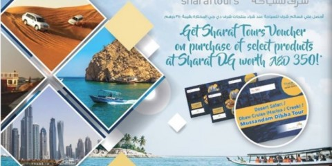Sharaf Tours Voucher worth AED 350