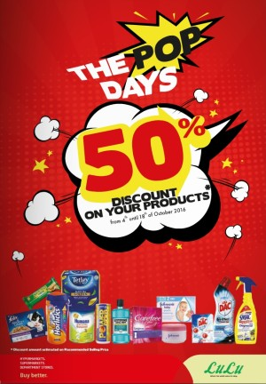 Lulu POP Days 50% Discount Promo