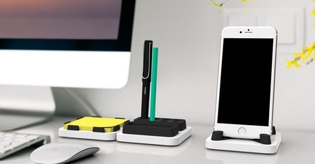 3-Pc Desktop Island Dock Station
