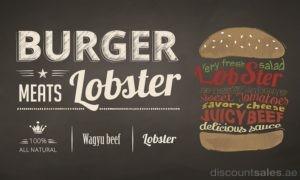 Burger meats Lobster