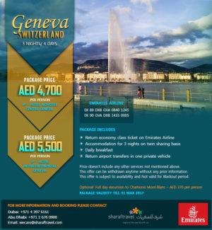 Geneva Switzerland Tour Package Offer