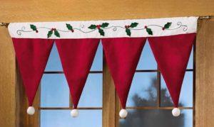 Christmas Door Window Drape