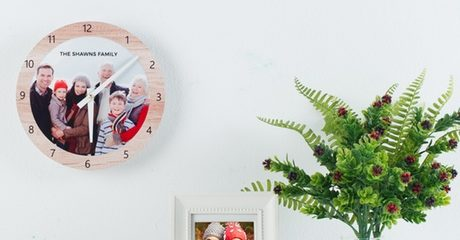 Custom Photo Clocks