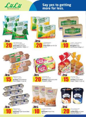 Assorted Frozen Foods
