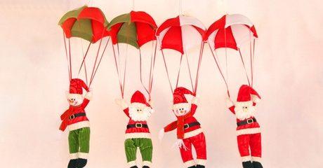 Hanging Parachute Santa Claus