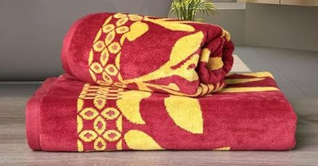 Two Cotton Bath Towels