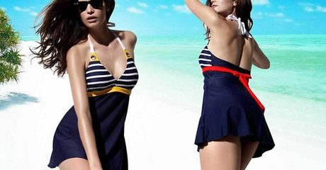 Push-Up Swimwear With Skirt