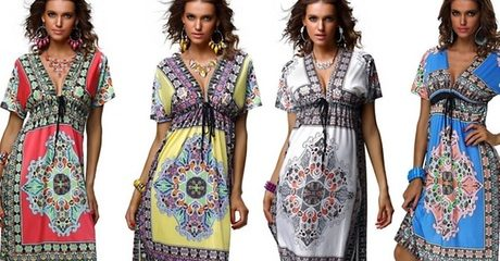 Printed Boho Beach Dress
