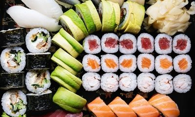 Sushi Delivery with AED 100 and Up