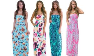 Women's Strapless Maxi Dress