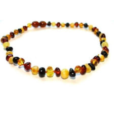 Amber Baby Teething Necklace - Multicolour