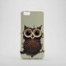 Cute Coffee Owl Hot Mugs Coffee Beans for iPhone 6