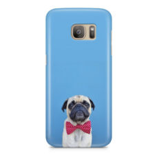 Cute Red Bow Tie Dog Pug Puggy Puppy Phone Case Cover for Samsung S7 Edge