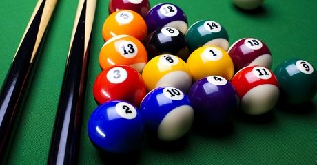 Billiards or Pool with Meal