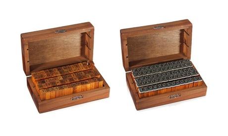 70-Piece Wood Alphabet Stamper
