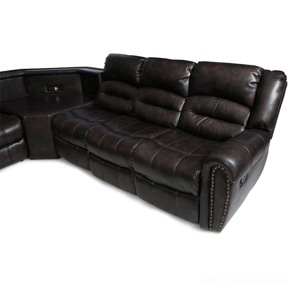 Corner Leather Sofas Cheap: Alhambra Leather Recliner Corner Sofa